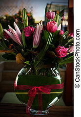 Vase of Flowers - A bunch of flowers in a vase