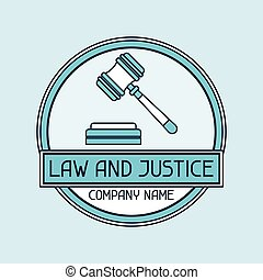 Law and justice company name concept emblem