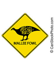 Mallee fowl ahead, australias road sign
