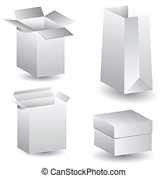 blank packaging icon set