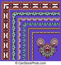 floral vintage frame design on violet colour background