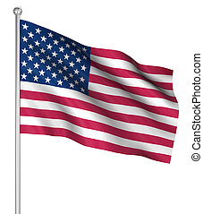 Country flag - America flag , computer generated image. 3d...