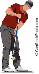 Golf player. Vector illustration
