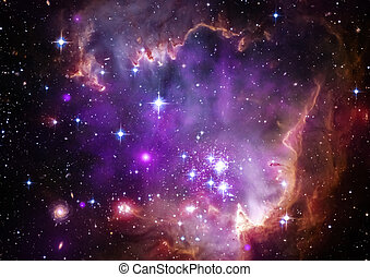 Star field in space and a nebulae - Star field in space a...