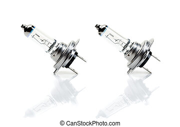 A pair of beam bulb H7 with reflection - Set beam bulb H7...