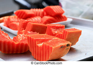 Papaya slices  - Papaya slices