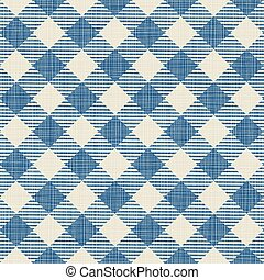 Seamless texture of blue plaid Vector illustration