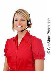 Female Customer Service Representative with Headset