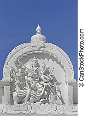 Statue of Goddess Mahisasuramardini at Shrinath Mhaskoba...