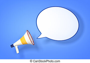 megaphone - An image of a megaphone with a speech bubble