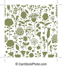 Floral pattern sketch for your design. Vector illustration
