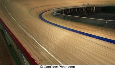 Pursuit cycling track - Pursuit Cycling tracking focus Film...