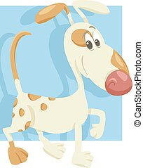 spotted dog cartoon illustration