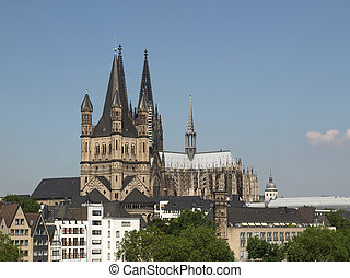 Koeln panorama - Koeln Germany panorama including the gothic...