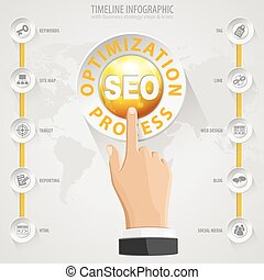SEO Concept - Search Engine Optimization SEO Concept with...