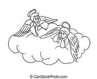 Cupid on a cloud Vector Clipart Royalty Free. 46 Cupid on a cloud clip ...