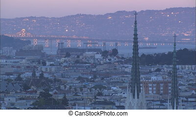 XLS SF Bay Bridge sunset - XLS of the San Francisco Bay...
