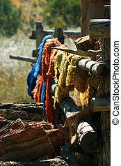 Natural Dyed Yarn - Skeins of handspun, natural dyed yard...