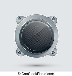 vector modern speaker on gray background