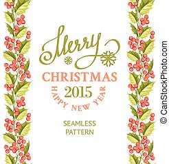Merry christmas card - Merry christmas card with line border...