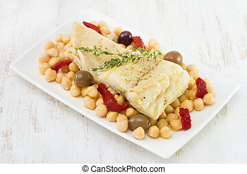 codfish with chick-pea