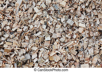 wood chips - Macro of wood chips for the production of...