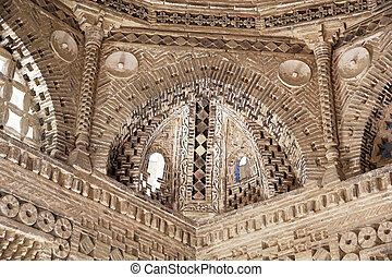 Bukhara - Architecture details of the dome of the Ismail...