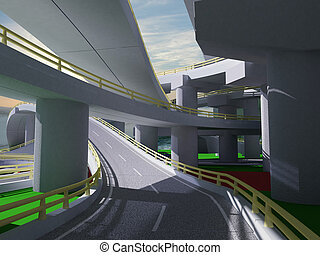3D highway interchange