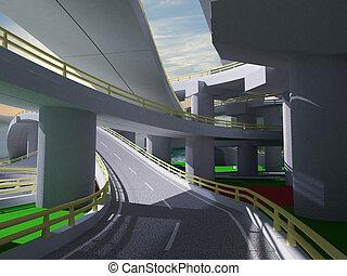 3D highway interchange