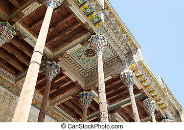 Bukhara - Architecture details of the ceiling of the...