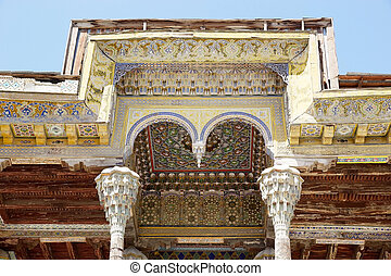 Bukhara - Architecture details of the decorations of the...