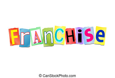 Franchise concept. - Illustration depicting a set of cut out...