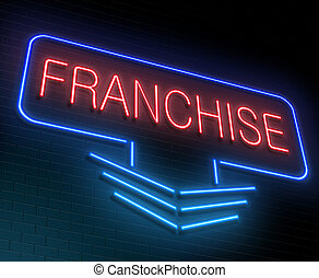 Franchise concept. - Illustration depicting an illuminated...