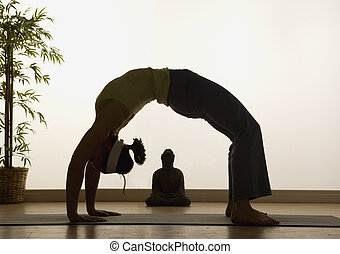 Yoga Highlights - woman in a traditional yoga pose