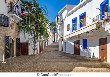 White houses at Ibiza street