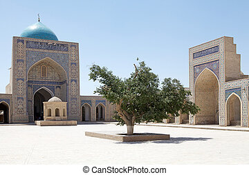 Bukhara - Kalyan Mosque at the Poi-Kalyan complex in the...