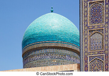 Bukhara - The Dome of the Mir-i Arab Madrasa at the...