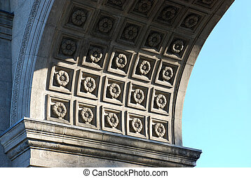 Stone rosette design on the Princes Gates interioir arch - a...
