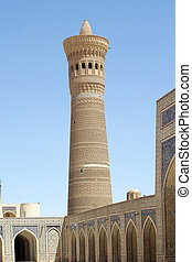 Bukhara - Kalyan Minaret at the Poi-Kalyan complex in the...