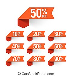 Sale, discount labels