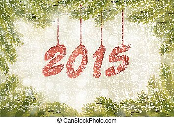 Happy new year 2015! New year design template Vector...