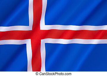 Flag of Iceland - Adopted 17th June 1944, the day Iceland...