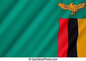 Flag of Zambia - adopted on 24th October 1964.