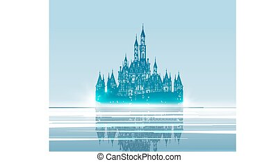 medieval Castle. Hand drawn vector illustration. Vector...