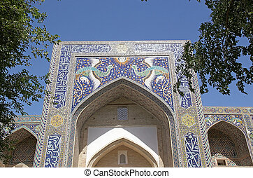 Bukhara - Nadir Divan-begi Madrasah in the historic centre...