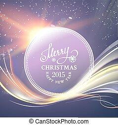 Futuristic christmas card - Futuristic christmas card with...