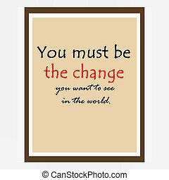 inspirational, motivando, citare, vicino, Mahatma, Gandhi,...