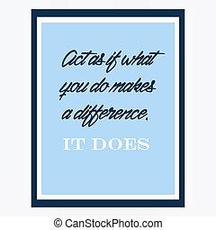 inspirador, y, de motivación, Citas, cartel, por,...