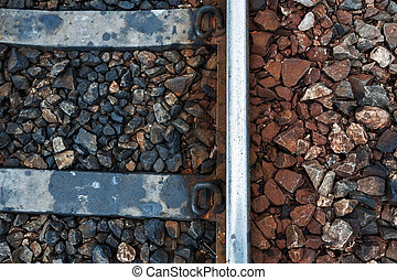 Railroad Track old line with stone