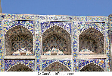 Bukhara - Architecture details of the Nadir Divan-begi...